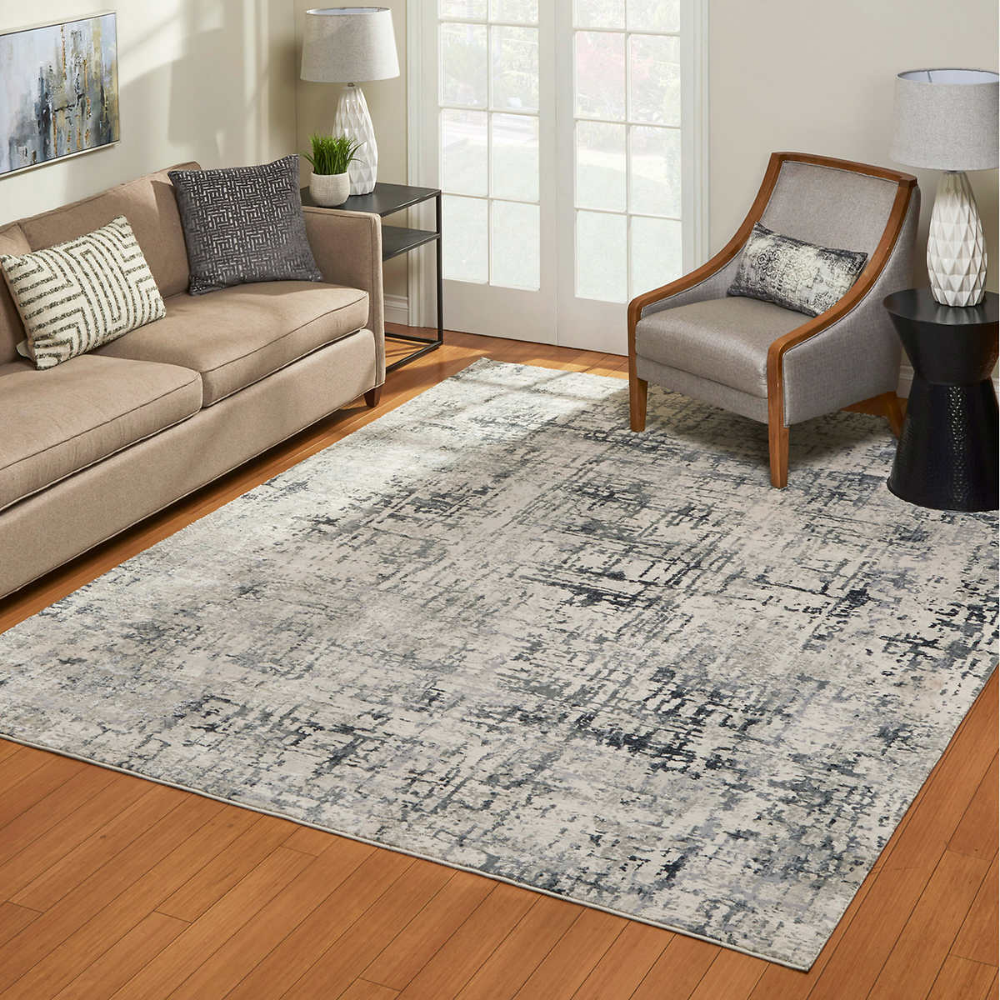 Aurora Rug Collection Arpege Gray Gray Rug Living Room Rugs