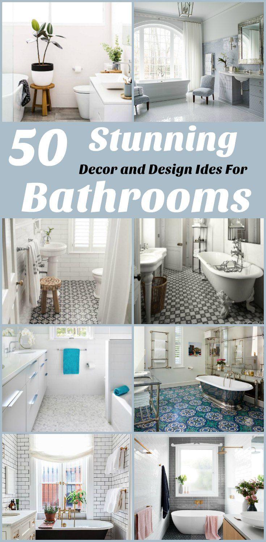 50 Beautiful Bathroom Decor and Design Ideas