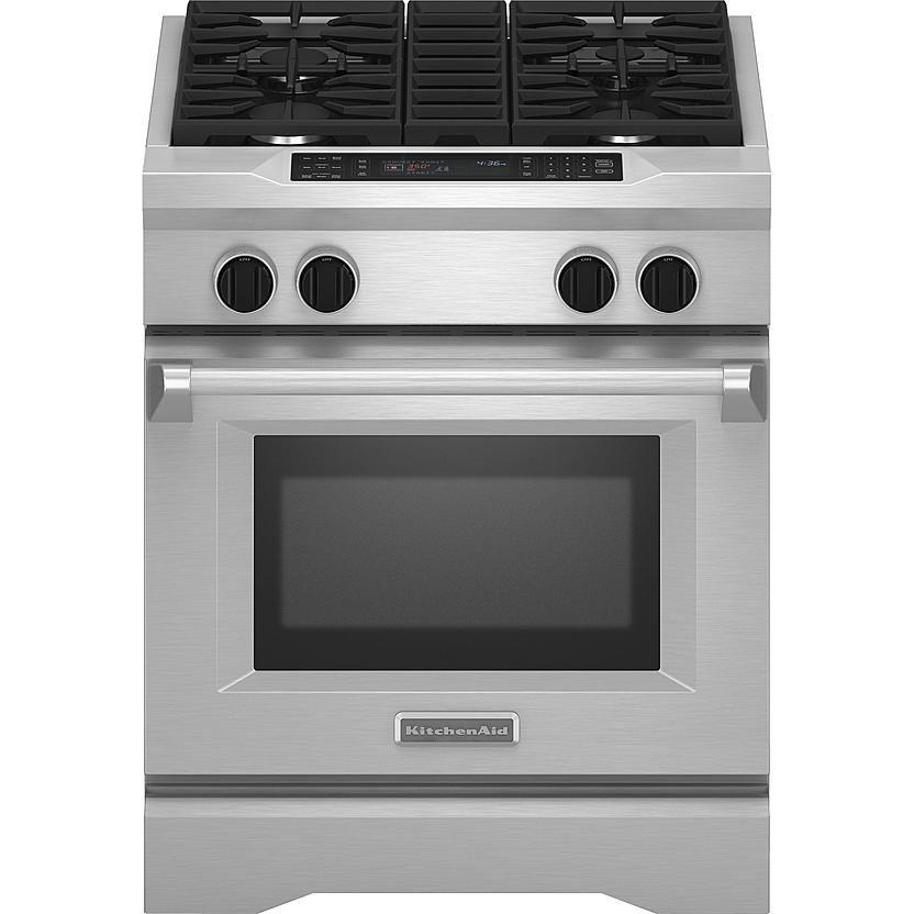 KitchenAid KDRS407VSS Pro-Style 4.1 cu. ft. Dual Fuel Range - Stainless Steel