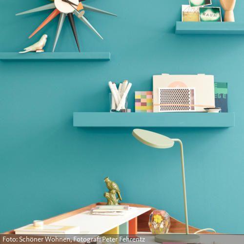 Blaue Lagune Roomido Com Wandfarbe Wohnen Farben