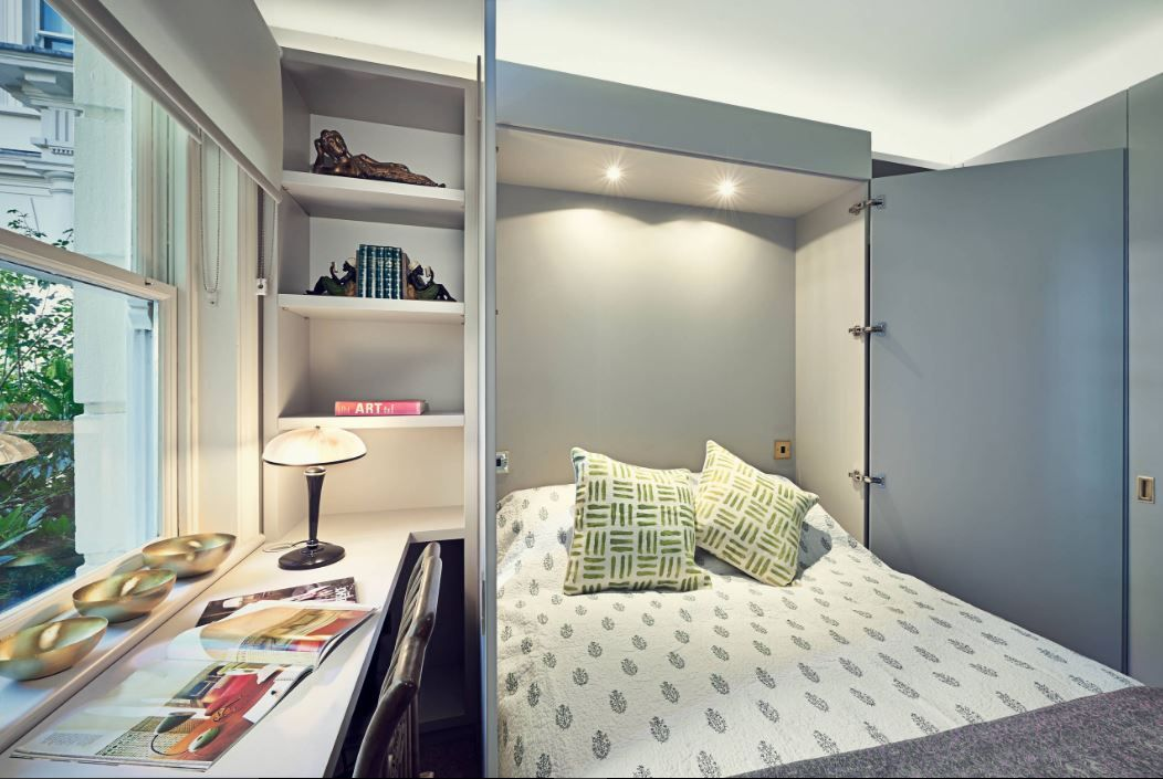 Transitional Bedroom by Sarah Fortescue Designs