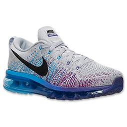 b4f70e74a657d Men s Nike Flyknit Air Max Running Shoes Wolf Grey Court Purple Vivid Blue