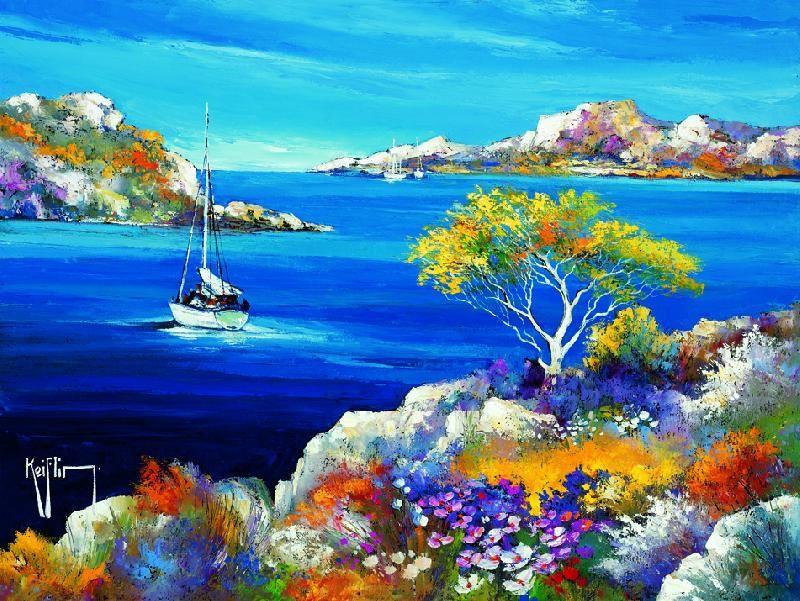 Peinture Tableau Paysage Tunisie Recherche Google Peinture Paysage Paysage De Mer Peinture Tableaux Paysage