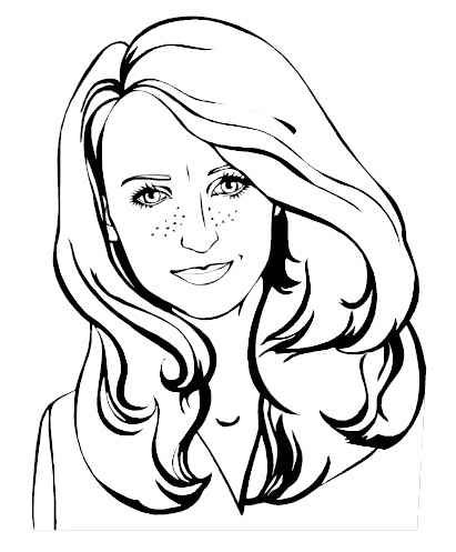 printable face coloring pages | Pin by Connie Drury on Color: People/Ladies | Coloring ...