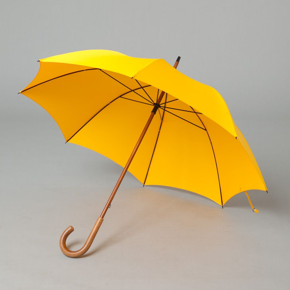 Fox Umbrellas Rgs2 Malaca Handle - Yellow Man Style Umbrella