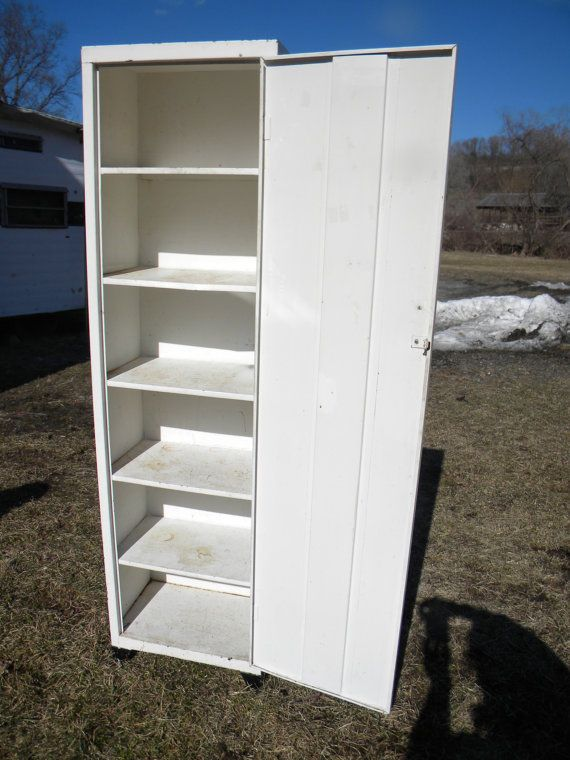 Superior Good Shape Vintage Mid Century Metal Kitchen PANTRY Storage CUPBOARD  CABINET Pick Up Only. $89
