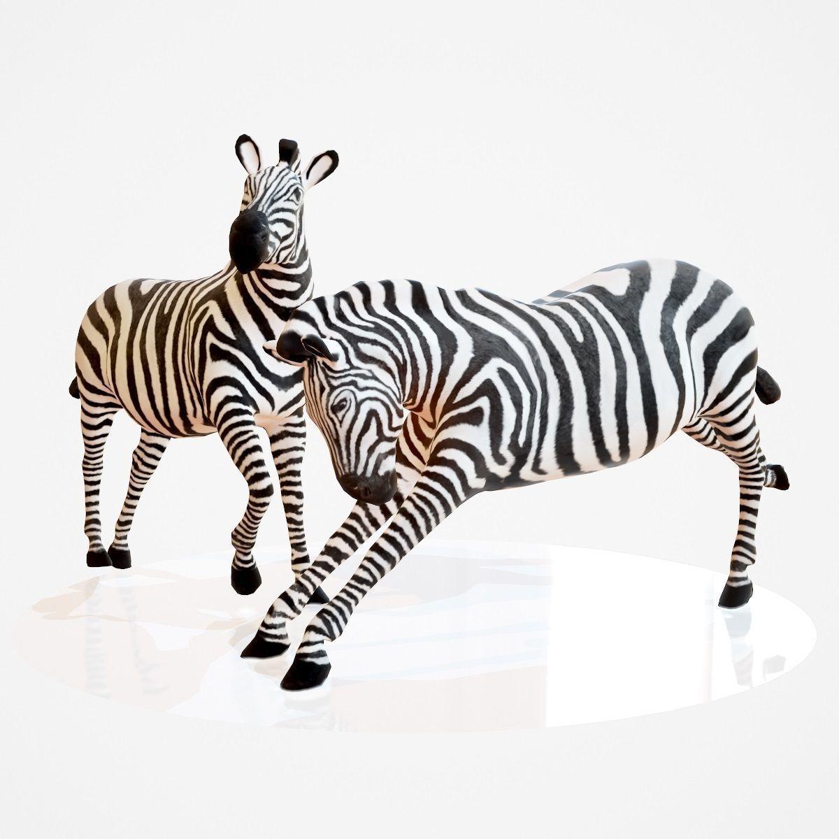 Zebra Rigged 3d Model Zebra 3d Model Animals
