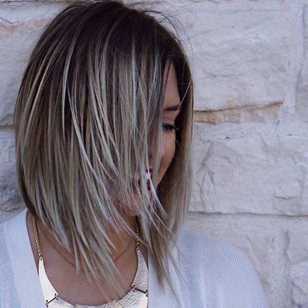 27 Pretty Lob Haircut Ideas You Should Copy In 2017 Ice Blonde