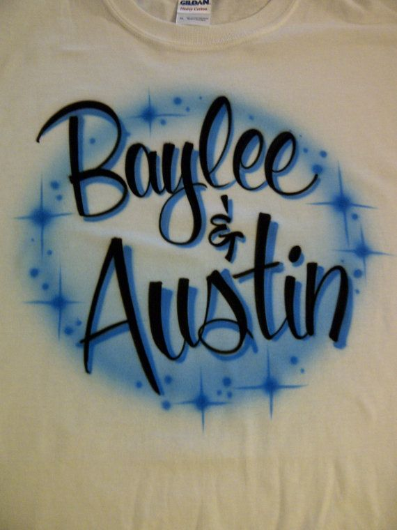 d7a3be391535 Airbrush Couples Shirt Personalized with by airbrushingbytaylor, $12.99