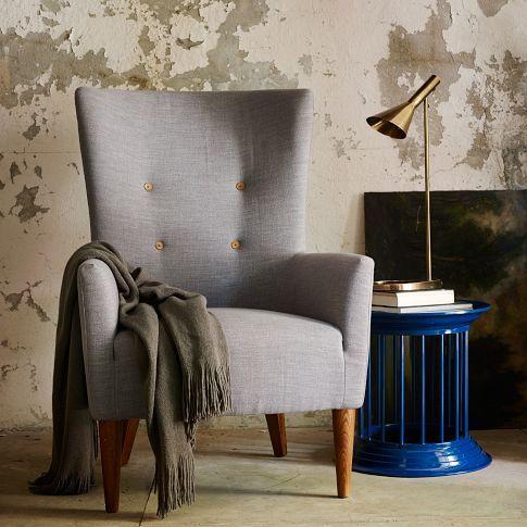 Victor Armchair Prints West Elm Living Room Chairs Modern