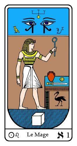 Tarot, Tarot - Arcane N°1, Tarot Égyptien   TAROT   Tarot egyptien ... 42d04b5ee136