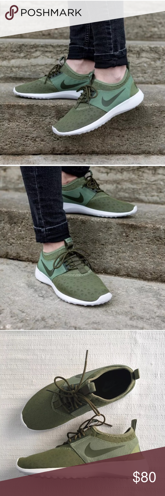 Women's Nike Green Juvenate Low Running Sneakers Women's Nike Green Juvenate  Low Running Sneakers is designed for total comfort all day, every day with  a ...