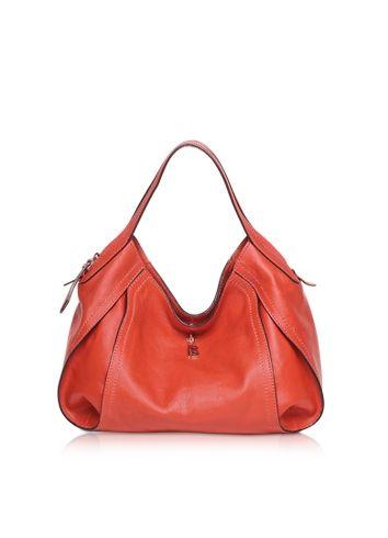 Francesco Biasia Copacabana Medium Red Leather Shoulder Bag