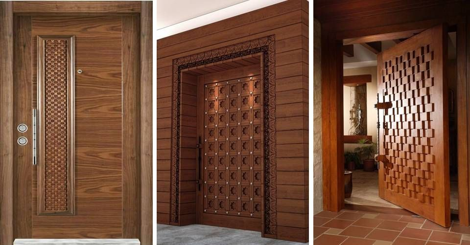 15 Modern Wooden Solid Door Decorative Panels For Home Assemble Decoration Ideas In 2019 Best Door Designs Door Design Front Door Design