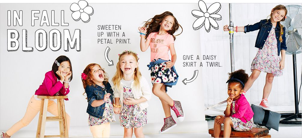 in fall bloom girls clothes