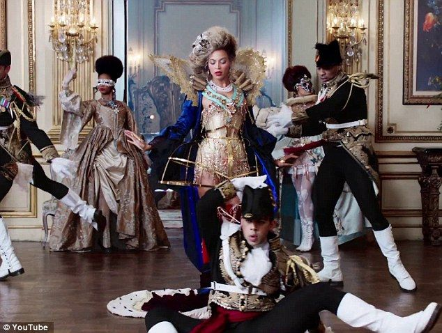 That's not very queen like! Beyonce and crew break into dance