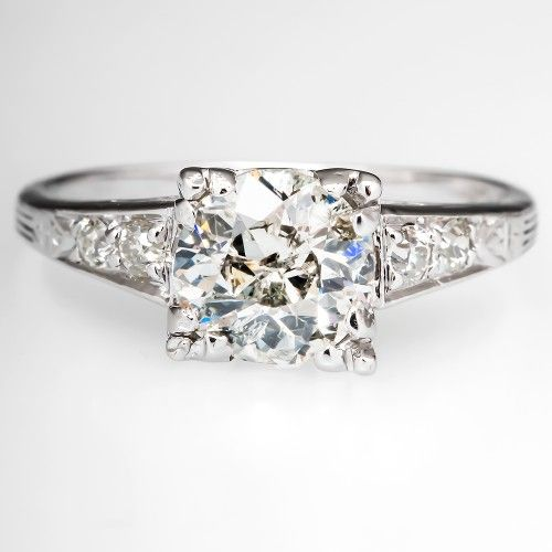 I love this. So simple,  but so beautiful! Just my style! Antique Old Euro Engagement Ring