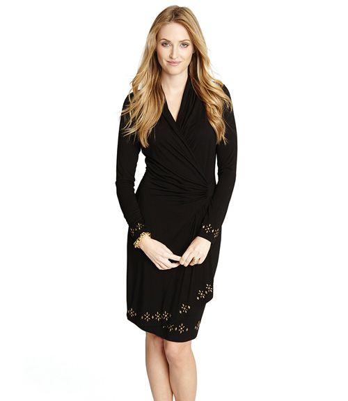 Karen Kane Royal Flush Cascade Wrap Dress Products Pinterest