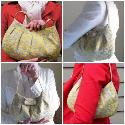 Buttercup Bag Sewing Pattern // Made one this weekend & it's super simple & super cute