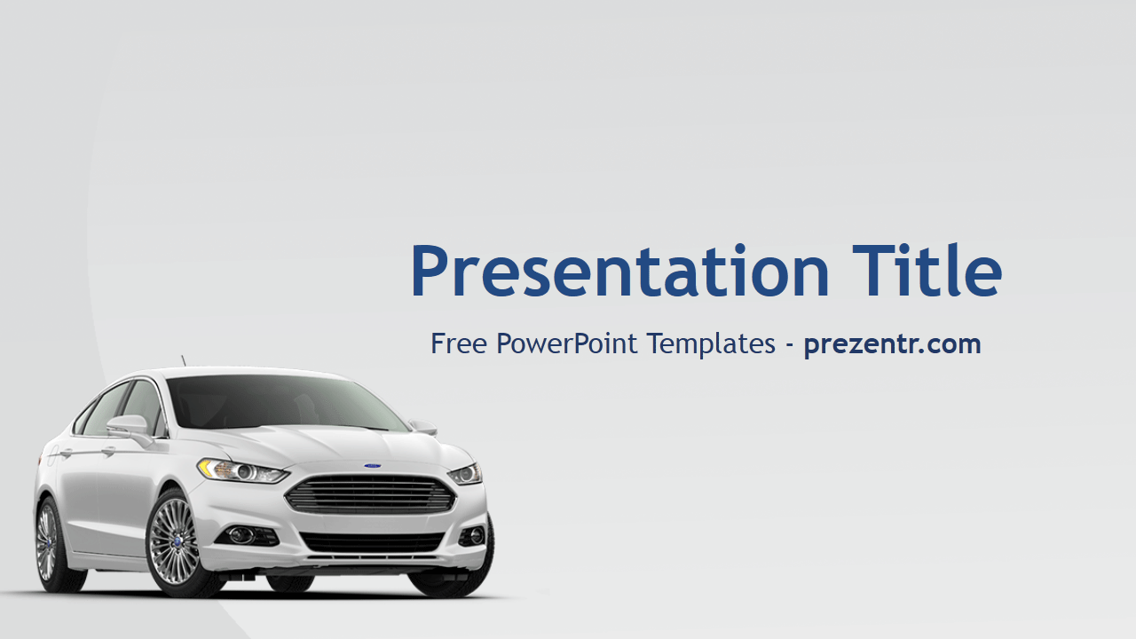 The Free Ford Powerpoint Template Has A White Background With A
