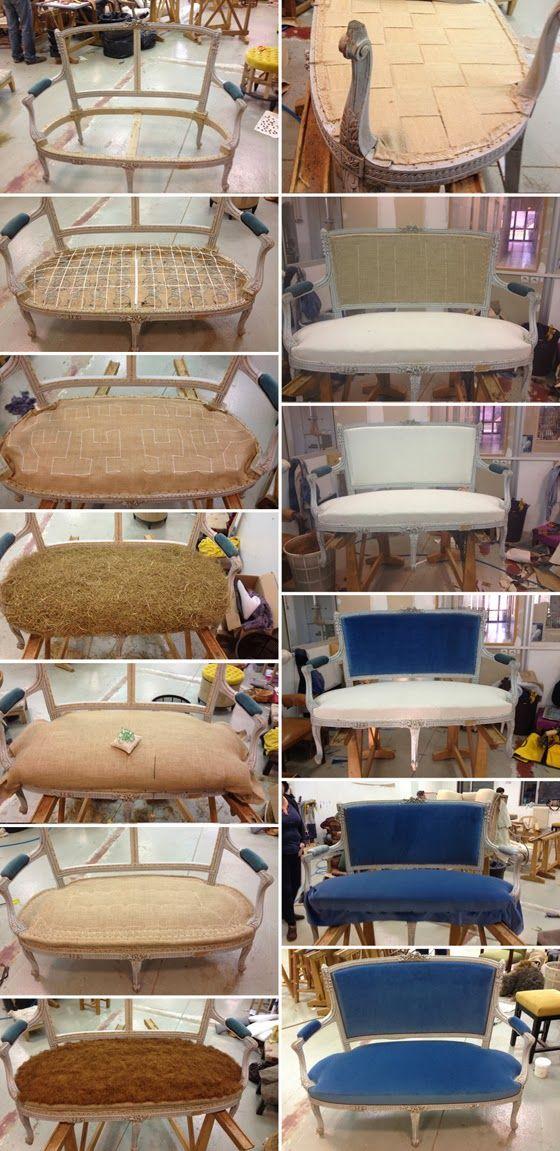 l atelier de la marquise canap louis xv upholstery ideas rh pinterest com