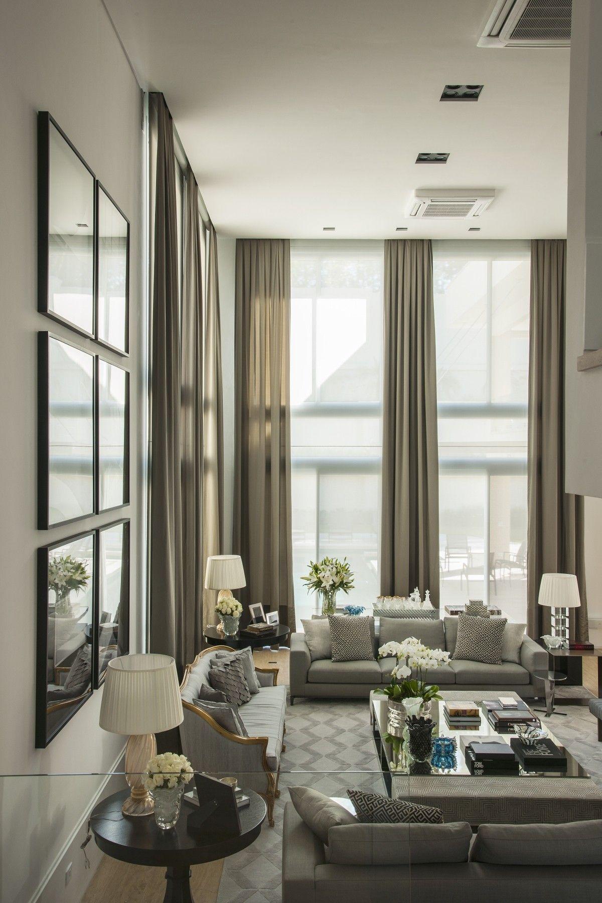 Pin By Refah On Living High Ceiling Living Room Elegant Living