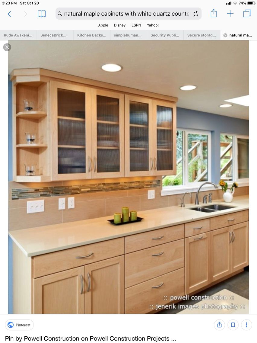 Pin by lissy fabe on Cabinets | Maple kitchen, Maple ... on Natural Maple Maple Cabinets With Quartz Countertops  id=72659