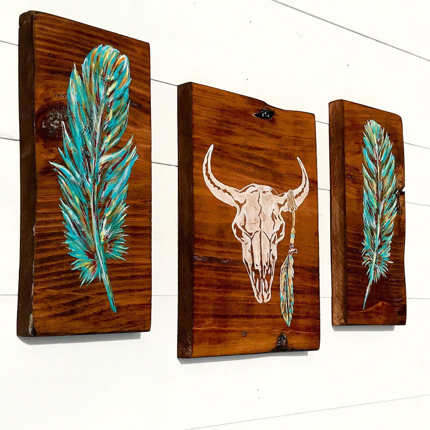 NEW Vibrant Native American Decor!!! This trio has slightly