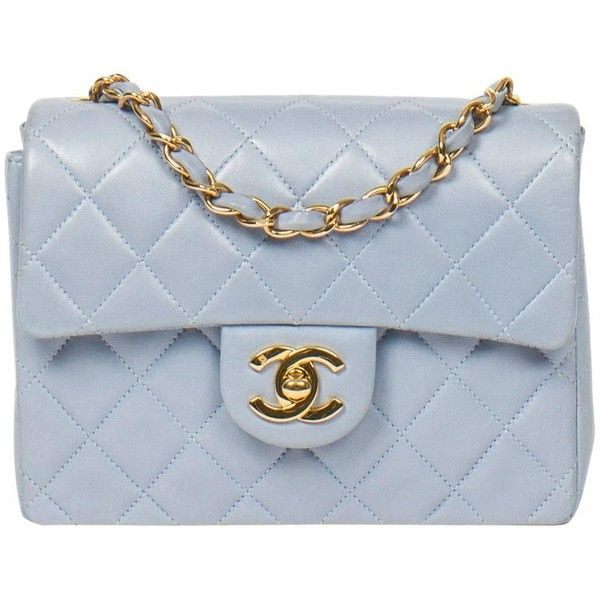 Preowned Timeless Mini Light Blue 2 490 Liked On Polyvore Featuring Bags