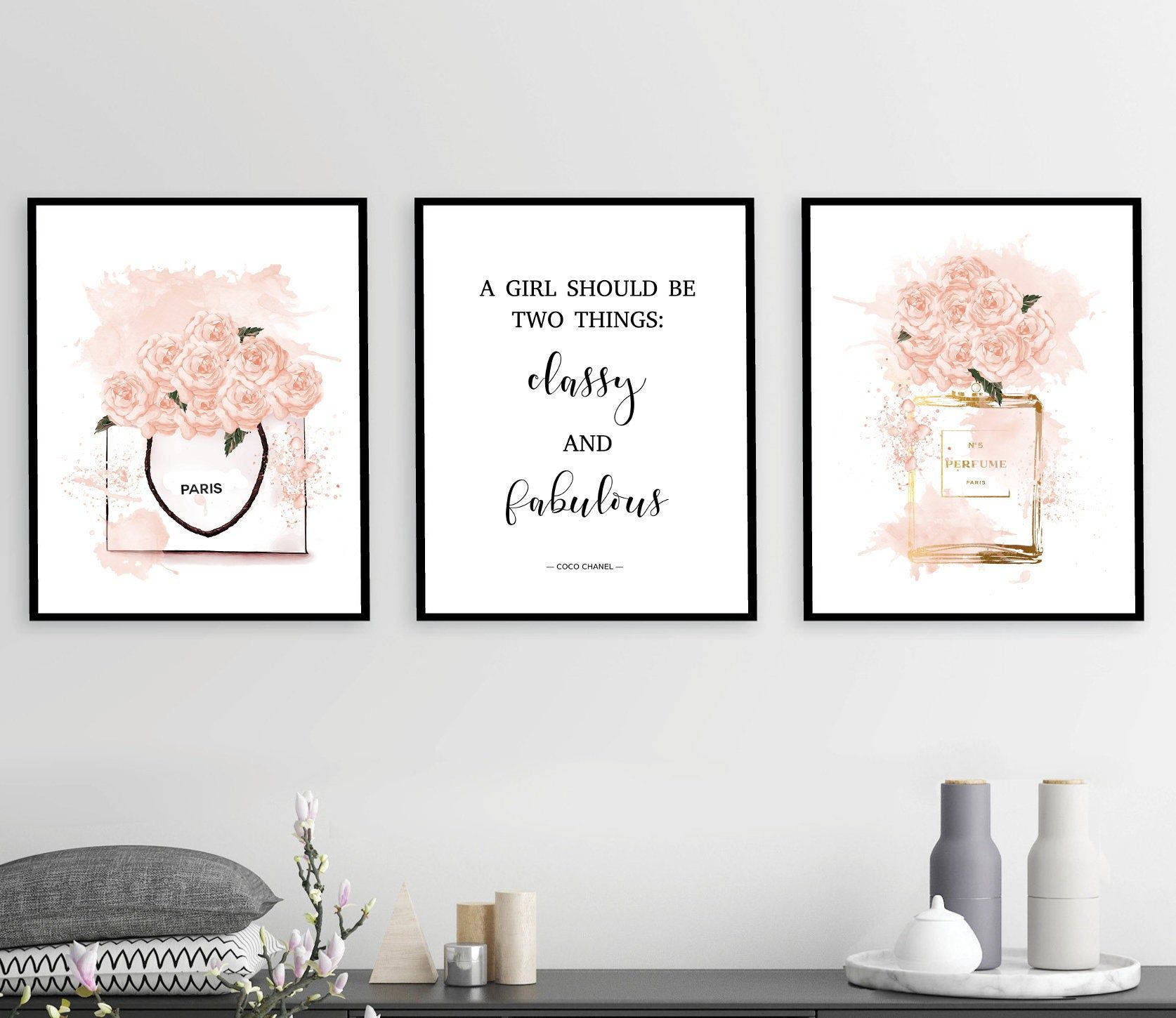 Makeup prints, Fashion wall art, makeup poster, beauty quotes