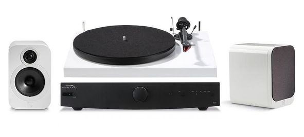 pro ject myryad q acoustics turntable stereo package turntables rh pinterest com