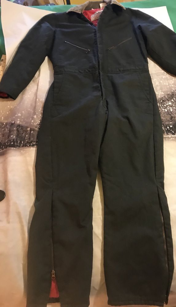 vintage walls blizzard pruf insulated coveralls mens small on walls coveralls id=35105