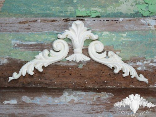 Shabby Chic Moulding Lique Baroque Scrolls Large Fleur De Lis Decorative Furniture Trim Embellishment Onlay Co Uk Kitchen Home