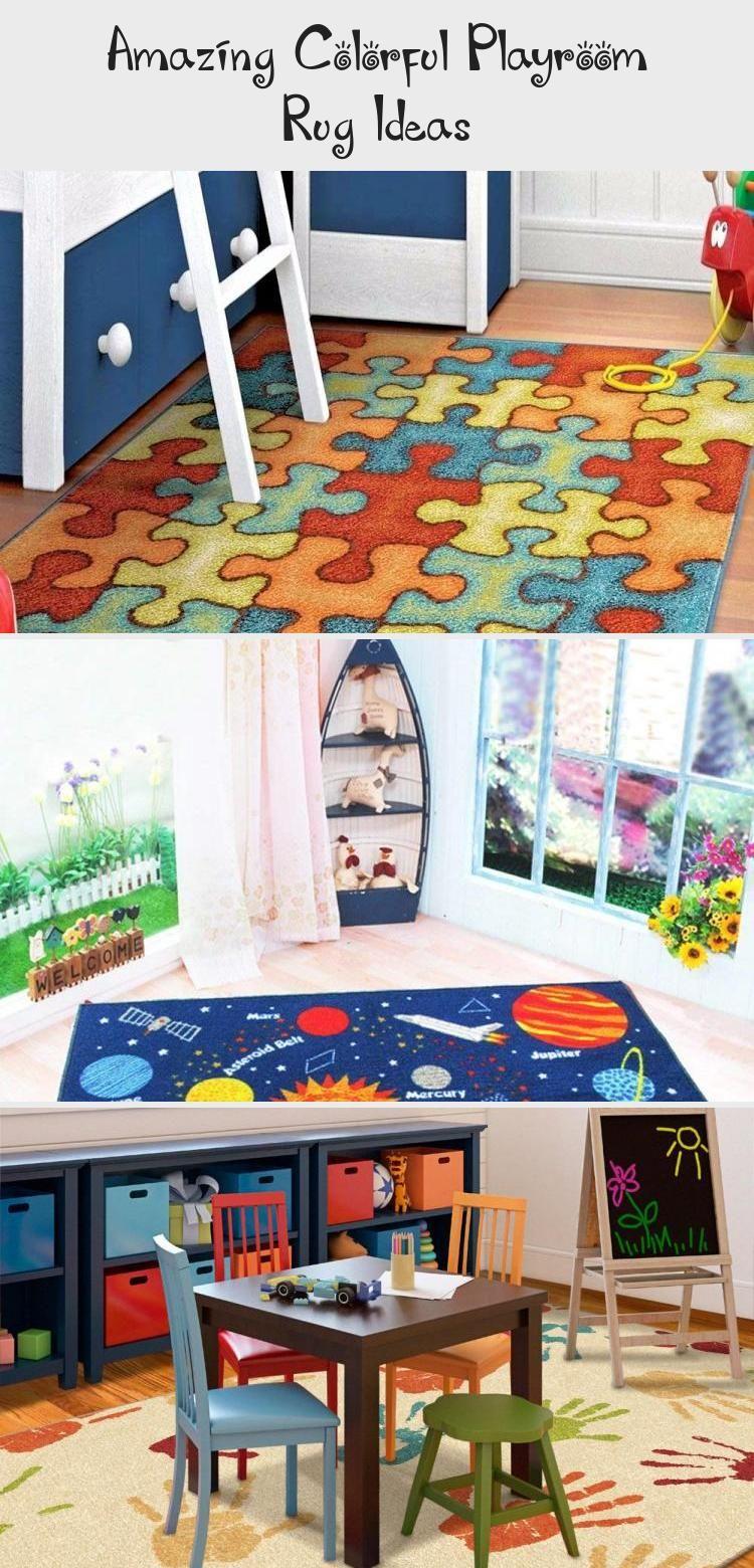 Amazing Colorful Playroom Rug Ideas