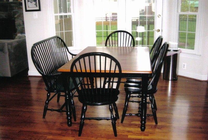 amish furniture continuous arm hertford windsor bench kitchen rh pinterest com
