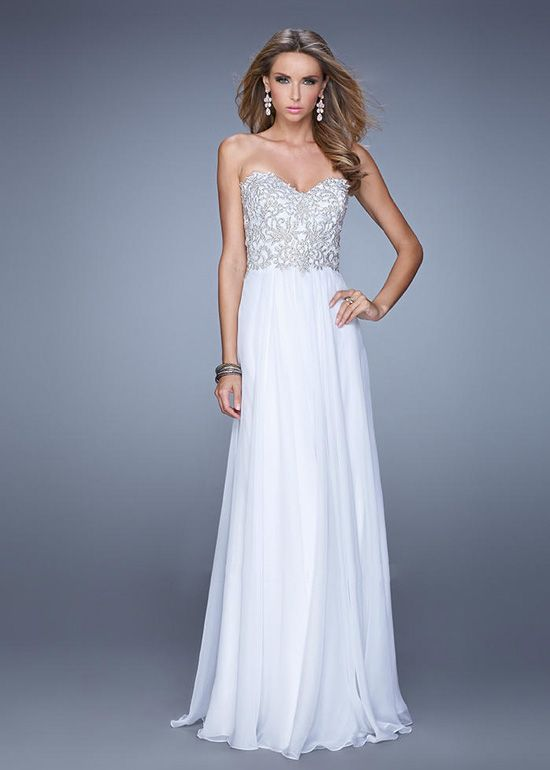 plusandcute.com cheap white strapless dress (05) #cuteclothes ...