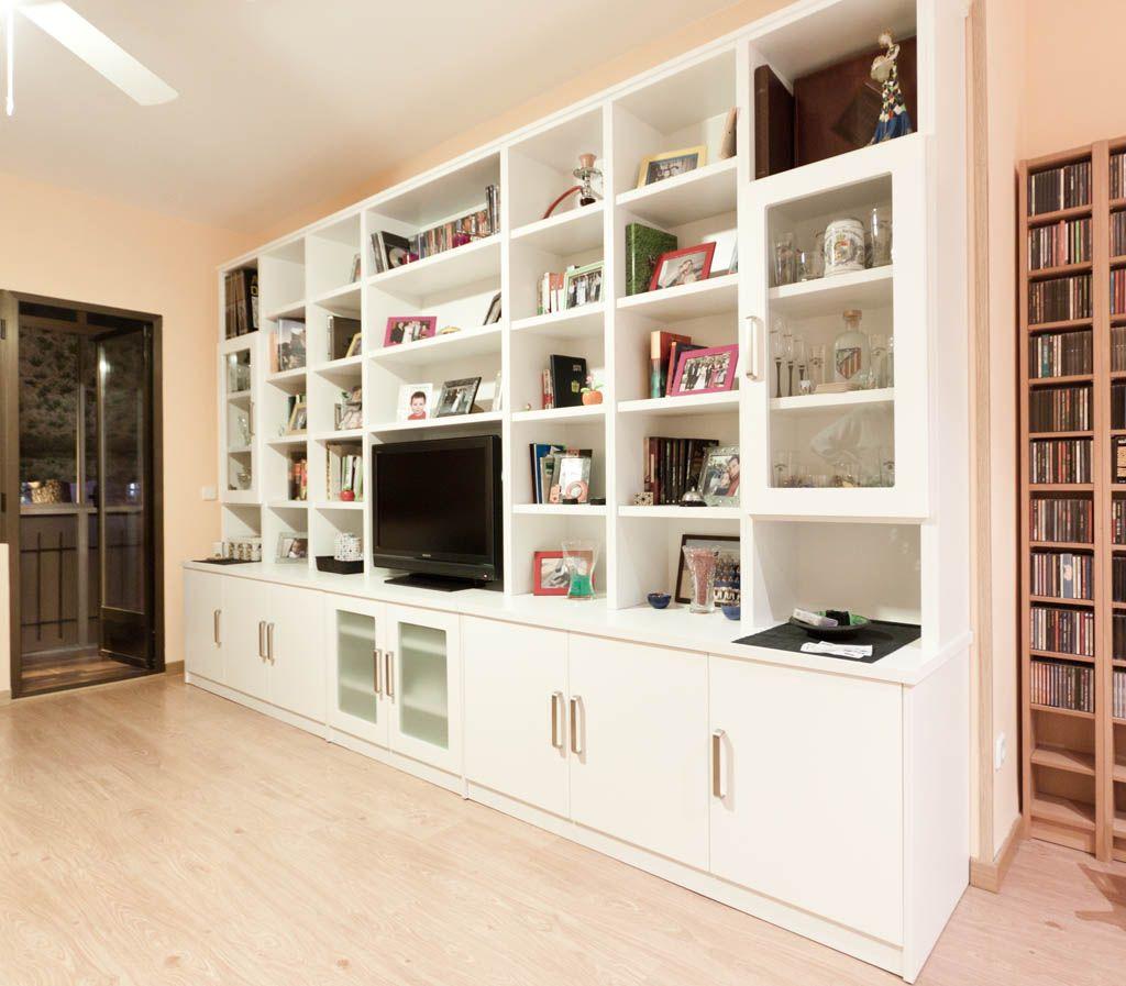 Librerias de salon muebles saln cm blanco roble foto for Muebles librerias para salon