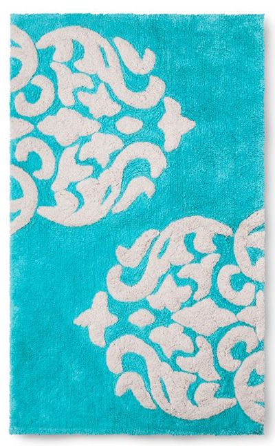 Turquoise Hope Bath Rug With Images