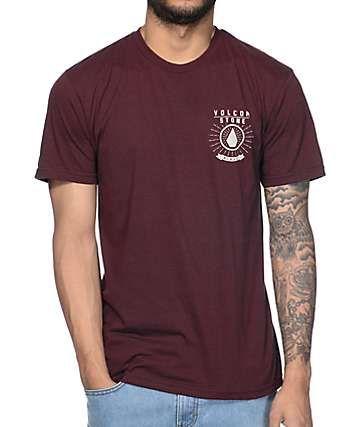 Volcom Radiant Heather Burgundy T-Shirt