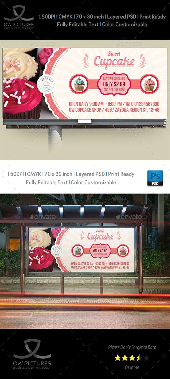Cupcake Billboard Template | Billboard, Template and Billboard design