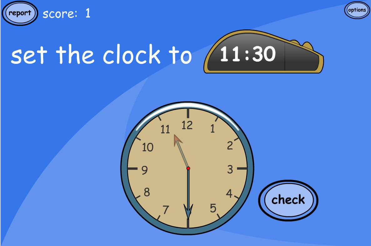 A Tesiboard Game For Practising Time Read The Digital Time And Set Theogue Clock To Match