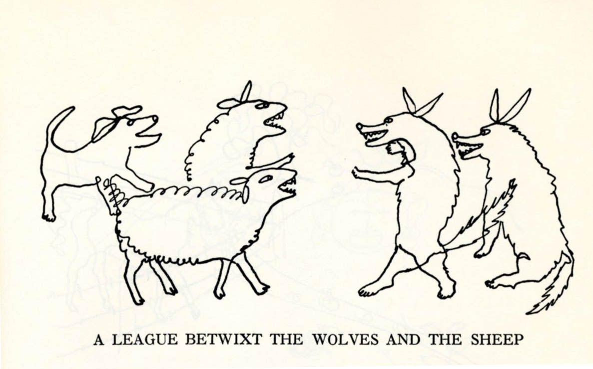 Fables Of Aesop According to Sir Roger L'Estrange with fifty drawings by Alexander Calder, Dover Publications, NY, 1967