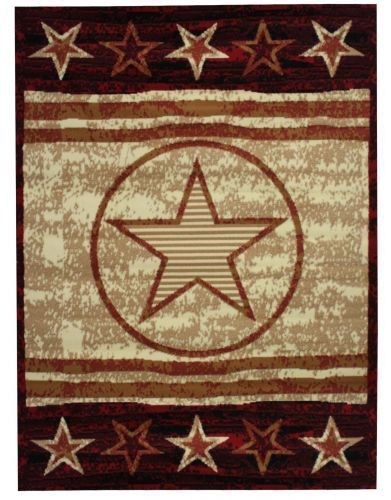 Large Western Style Area Rug Made Of 100 Olefin Materials