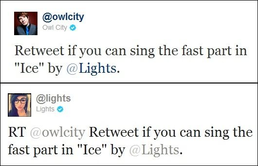 Image result for owl city rt if you can fast part ice lights