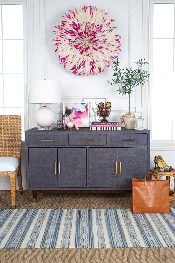 how to style a functional entryway credenza everything home rh pinterest com