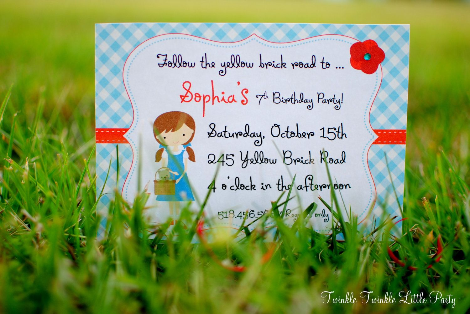 birthday party invitations printable%0A PRINTABLE Wizard of Oz inspired Invitations