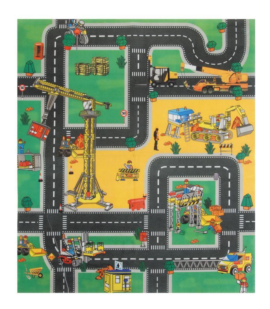 details about play mat road rug car boys kids children grip fire engineconstruction wtrucks