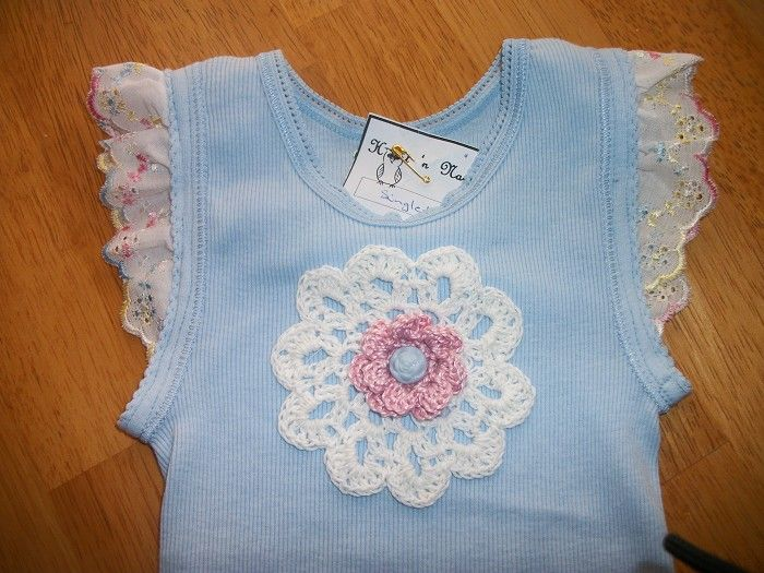 Vintage Lace Embellished Baby Singlet Crochet By Hootnnanny On
