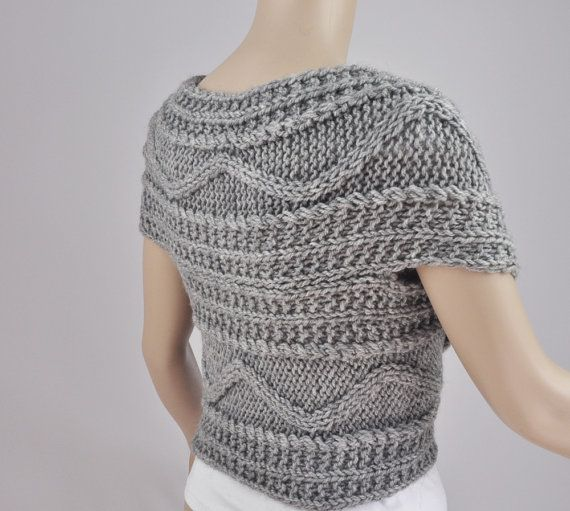 Hand knit woman sweater wool vest Cross Sweater Capelet Neck warmer ...