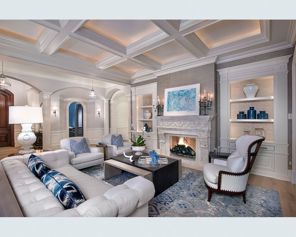 Blue and White Grand Salon by W